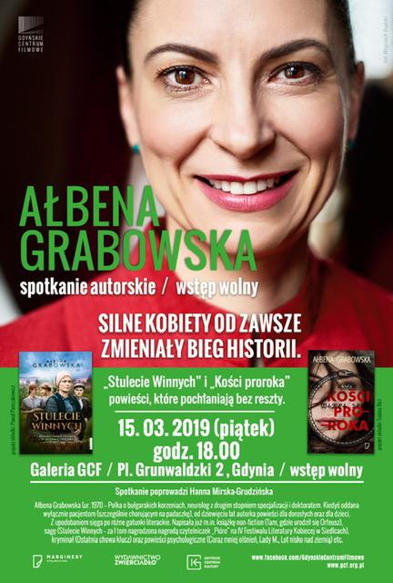 Spotkanie autorskie z Ałbeną Grabowską – 15 marca godzina 18:00